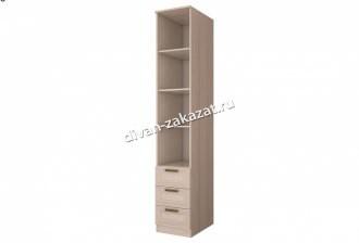 Шкаф с ящиками и зеркальной дверью 585 Орион