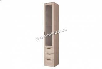 Шкаф с ящиками и стеклянной дверью Орион