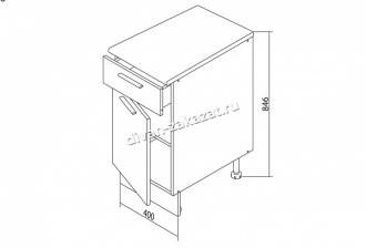 Шкаф напольный Белла СТЛ.281.05
