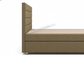 Кровать Гаванна Box Spring (с матрасом) коричневая