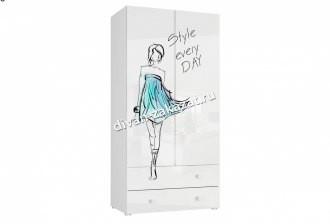 Шкаф 2-х дверный с ящиками Модерн - Стиль