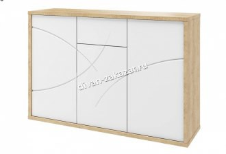 Мадейра СТЛ.264.03 Комод Дуб небраска/Белый глянец