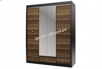 Шкаф с зеркалом 4-х дверный с 3-мя ящиками Ксено СТЛ.078.19