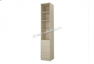 Шкаф со стеклом 1 дверь с 3 ящиками Дженни СТЛ.127.19