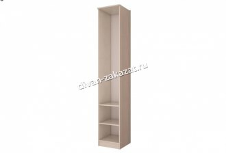 Шкаф с полками ДСП и зеркальной дверью Орион