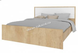 Мадейра СТЛ.264.10 Кровать Дуб небраска/Белый глянец