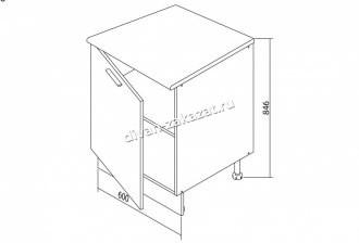 Шкаф напольный Белла СТЛ.281.06
