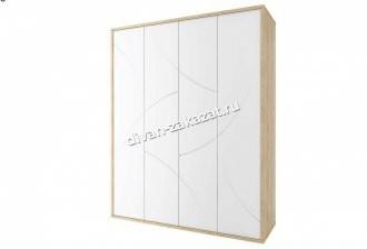 Мадейра СТЛ.264.07 Шкаф 4-х дв. Дуб небраска/Белый глянец