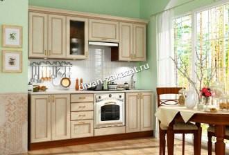 Кухня Эмилия Ясень светлый (Массив Италия)