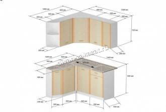 Кухонный гарнитур левый Бланка