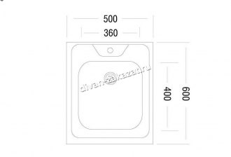 Мойка Юкинокс Стандарт STD500.600 - 5С ОСS накладная